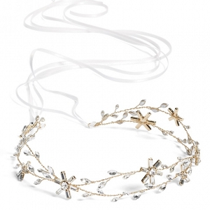 Rhinestones and Crystal Headband and Sash