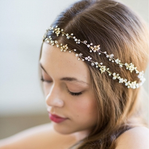 Double Banded Gold Halo Headpiece