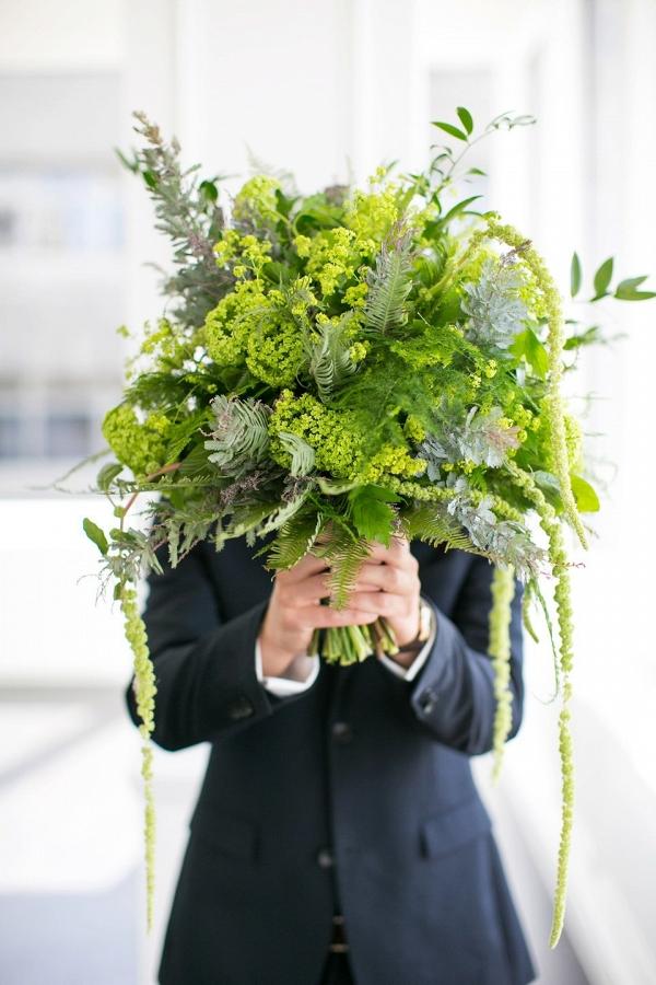 Greenery Wedding Bouquets | Evergreen Wedding Flowers
