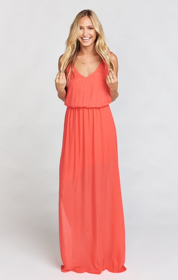 Hibiscus Crisp Maxi Dress
