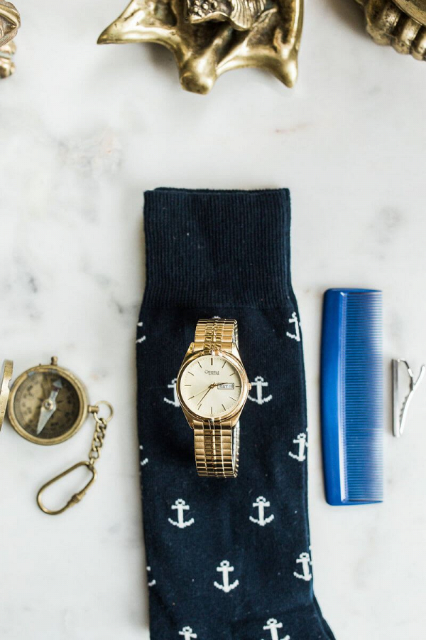 Intimate-Rustic-Wedding-Nautical-groom-details