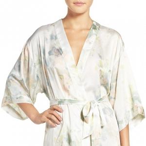 Jenny Yoo Floral Print Kimono Robe