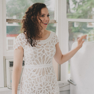 Laid Back Camp Wandawega Wedding - simple bridal gown Rue De Seine