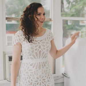 Laid Back Camp Wandawega Wedding - simple bridal gown Rue De Seine