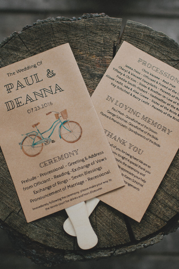 Laid Back Camp Wandawega Wedding - Brown paper wedding programs