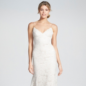 'Lanai' Convertible Cap Sleeve Lace Low Back Wedding Dress