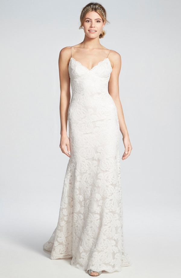 'Lanai' Convertible Cap Sleeve Lace Low Back Wedding Dress