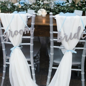 Mid-Summer Romance - bride and groom chairs
