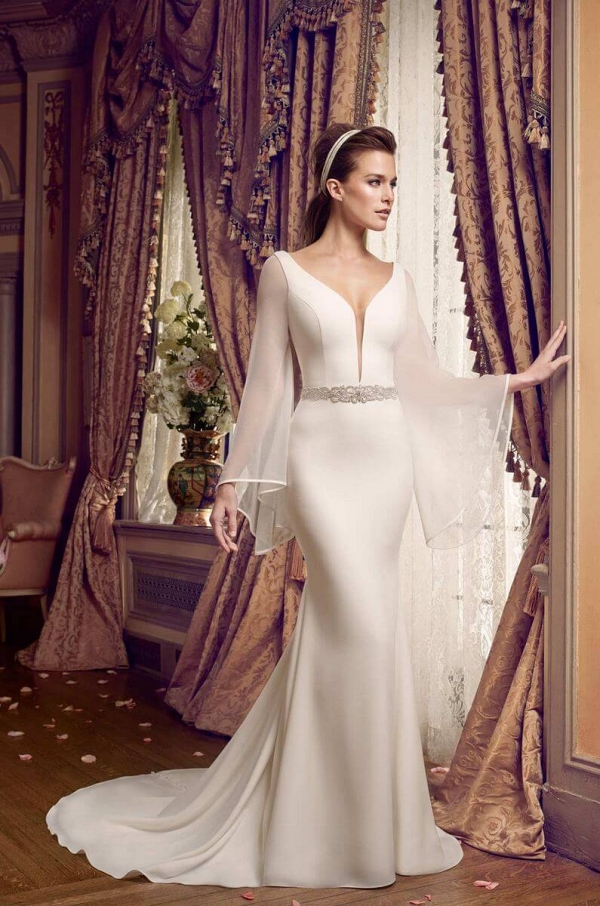 Mikaella 2017 Fall collection - 2017 wedding dresses - flowy long sleeves