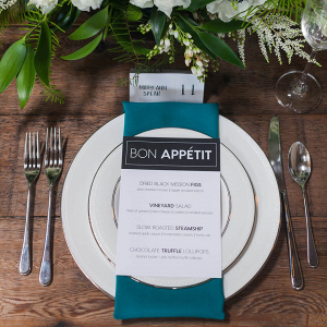 Minimalist Tablescape Wedding Inspiration - Place setting