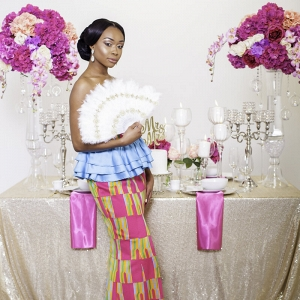 Pink and Gold Ghana wedding inspiration