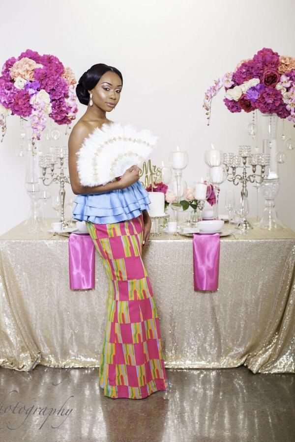 Pink and Gold Ghana wedding inspiration
