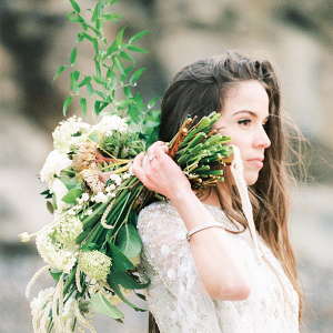Normandy-Coast-Engagement-bride-bouquet-and-crop-top