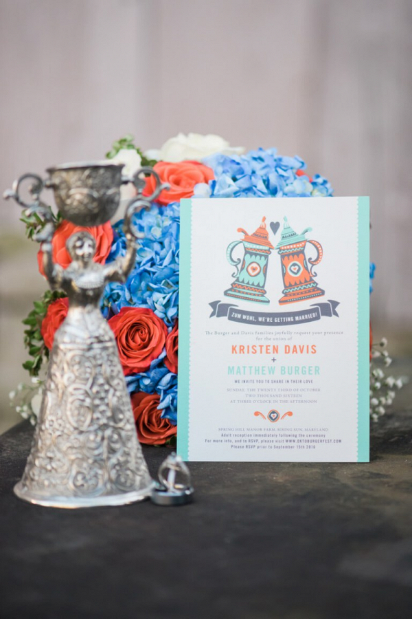 Rings-and-Invitation-from-Oktoburgerfest-themed-Wedding