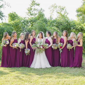 Outdoor-Floral-Fall-Wedding-Wine-Bridesmaids