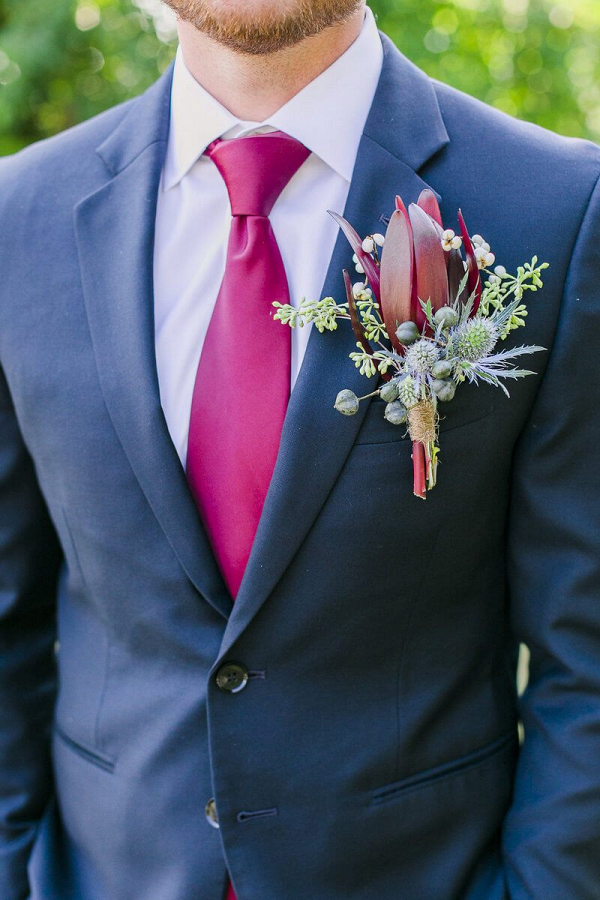 Outdoor-Floral-Fall-Wedding-wine-colored-groom-style