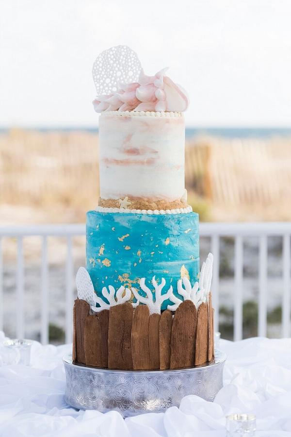 Perdido-Beach-Resort-Wedding-beach-wedding-cake