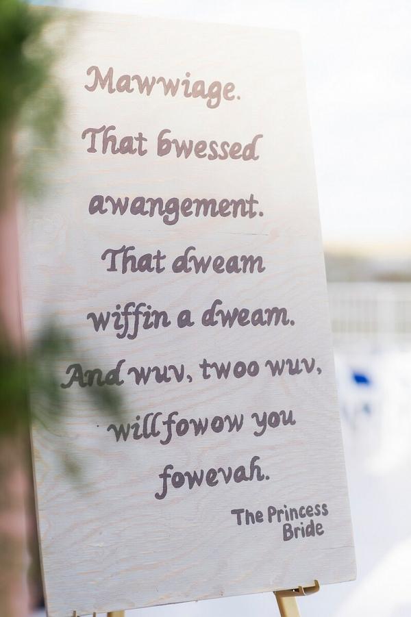 Perdido-Beach-Resort-Wedding-movie-quotes-signage