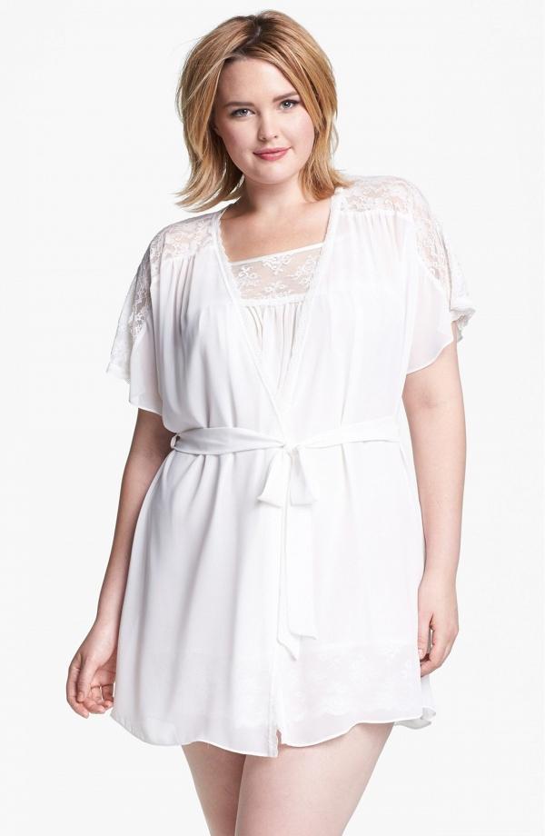 chiffon plus size robe