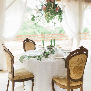 Romantic Chic Bridal Sweetheart table