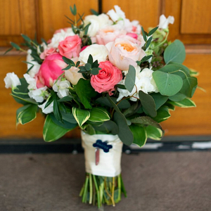 Brides-pink-and-green-bouquet-from-a-Romantic-Vineyard-Virginia-Wedding