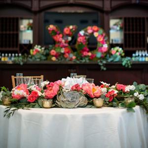 XO-floral-decor-from-a-Romantic-Vineyard-Virginia-Wedding