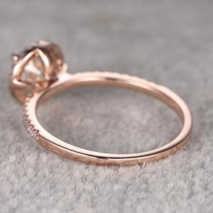Rose Gold Moissanite Engagement Rings