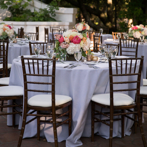 Rustic Elegant Outdoor California Wedding - reception table style