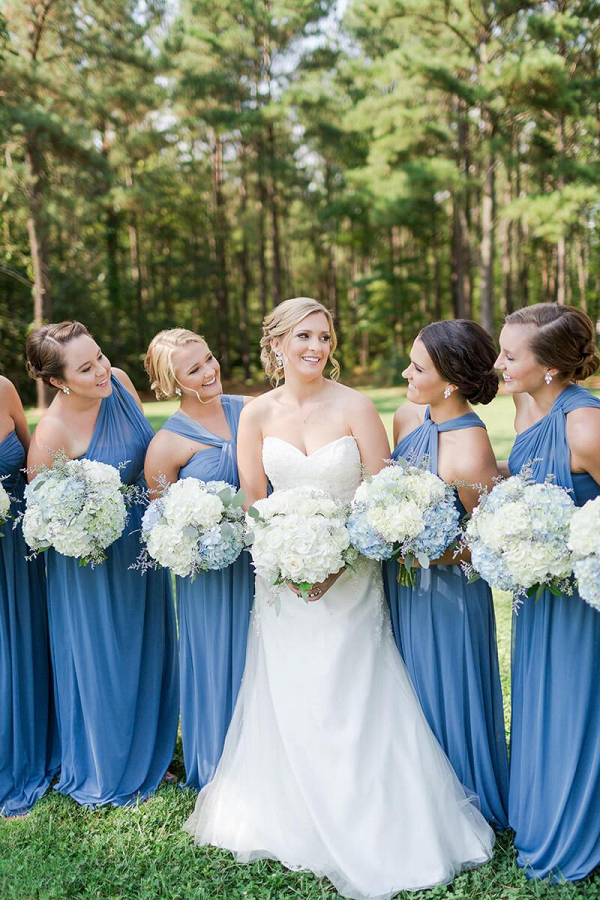 Rustic-Farm-Virginia-Wedding-Blue-Bridesmaids-Dresses