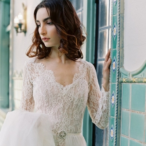 Sareh-Nouri-Morning-Glory- Long sleeved wedding dress