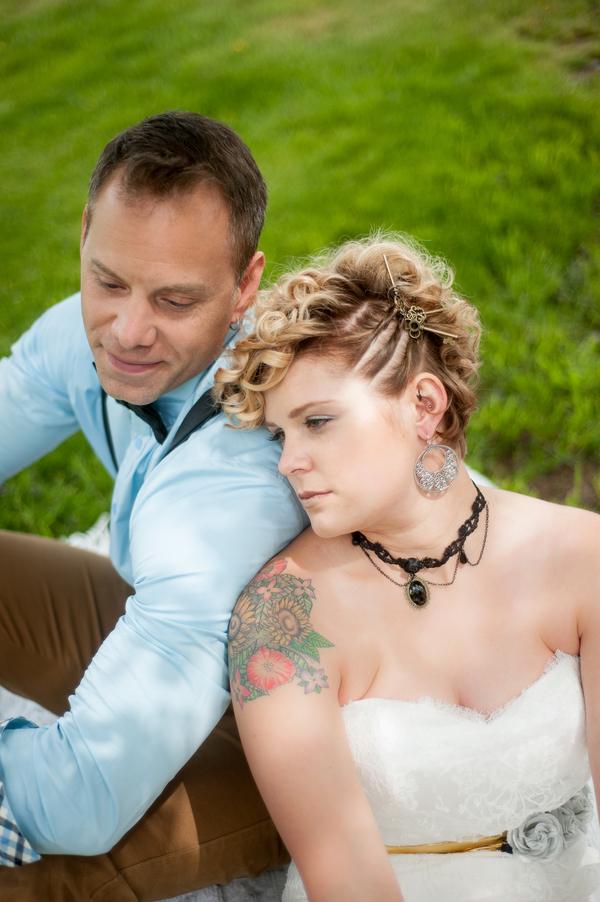 Steampunk Rustic Wedding Inspiration - Couple
