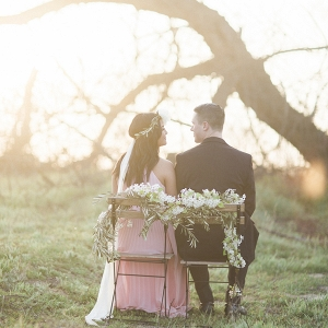Sunrise Film Engagement Session - Couple with Floral Chair