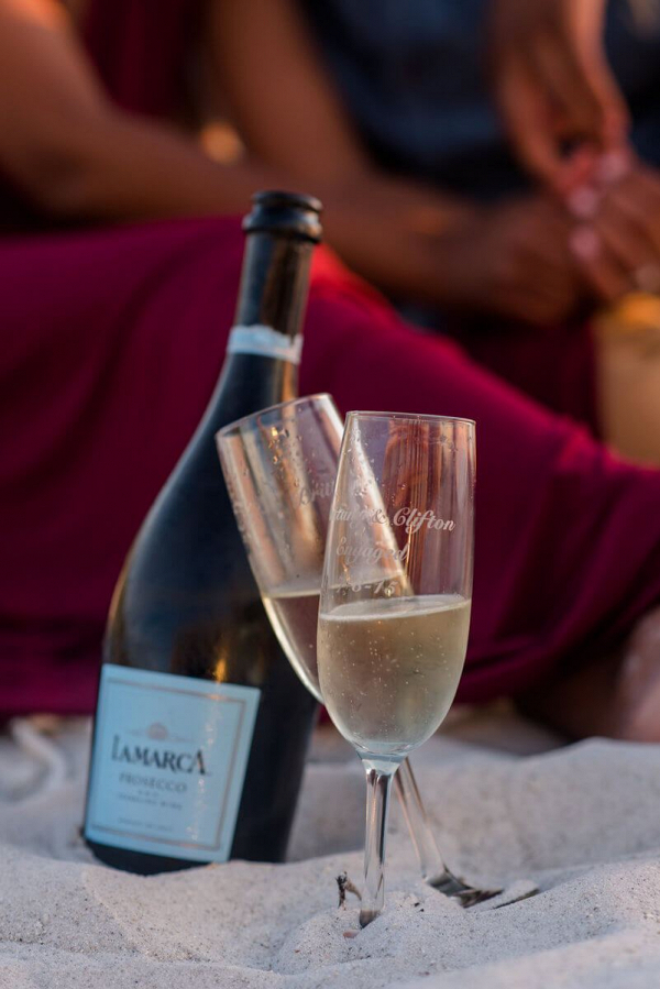 Sunset-Beach-Engagement-wine-on-the-beach