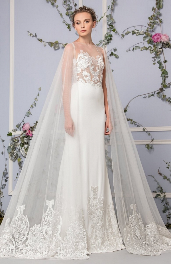 Tony Ward 2017 Bridal Collection - wedding dress with cape