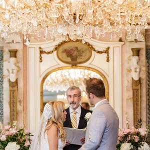 vintage glam wedding - glam chandelier