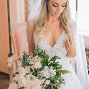 Whimsical Greenery Wedding - bridal bouquet