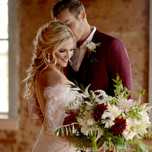 Wine Inspired Fall Wedding Ideas - Bride and groom