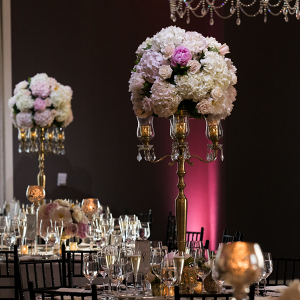 Tall hydrangea wedding centerpieces