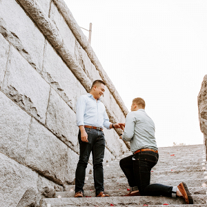Chicago Proposal Lincoln Park Two Grooms