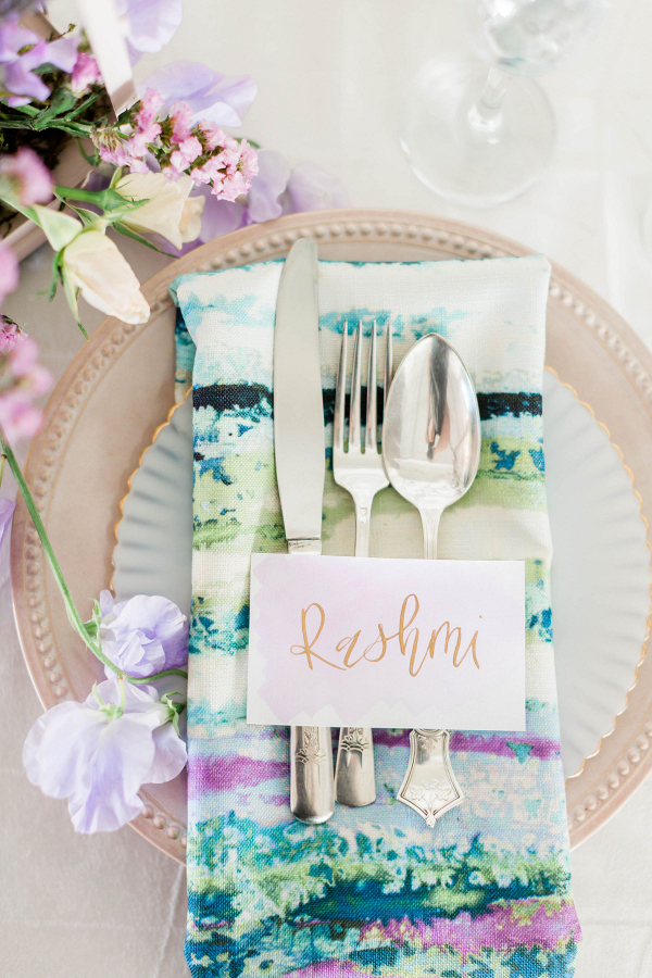 Watercolor Wedding Inspo Chicago Room 1520 Two Brides
