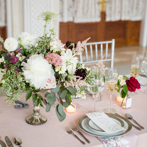 Elegant blush wedding table