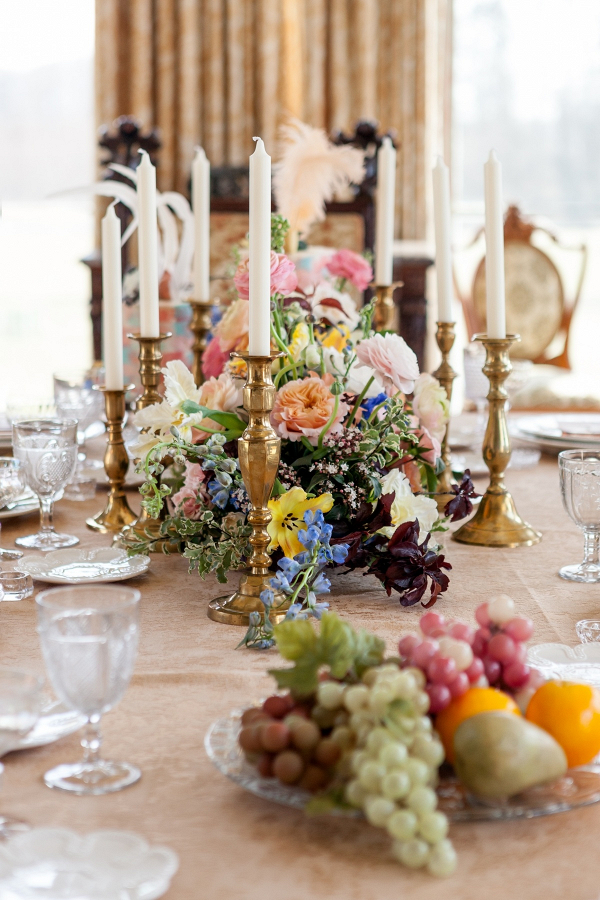 Rococo wedding table inspiration in pastel hues
