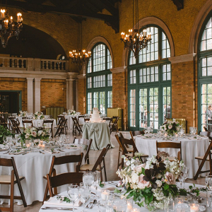 Classic wedding reception at Columbus Park Refectory