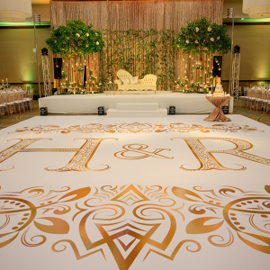 Custom wedding reception dance floor