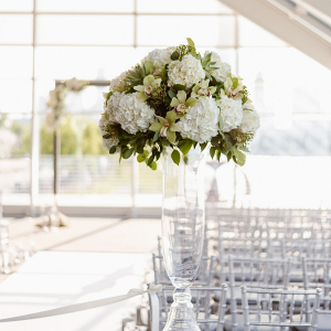 Tall ceremony floral urns