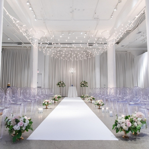 Modern loft wedding ceremony in Chicago