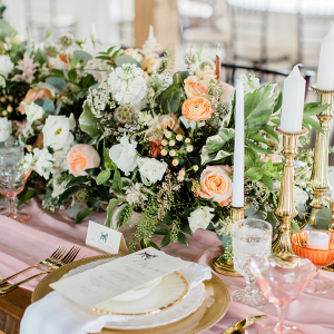 Romantic Pink and Gold Wedding Table Chicago Wedding (16)