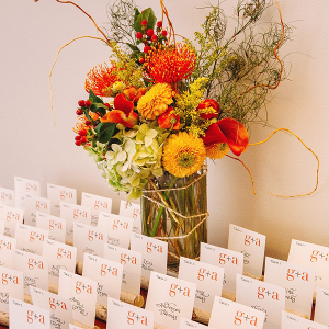 Rustic fall escort cards