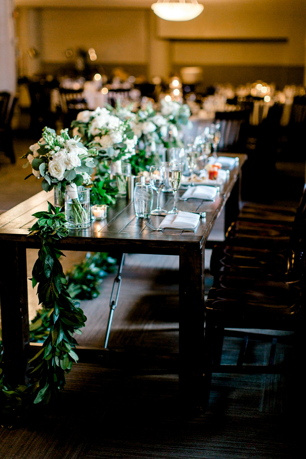 Greenery wedding centerpieces