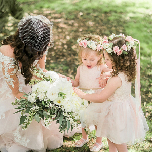 Flower girls in floral crowns